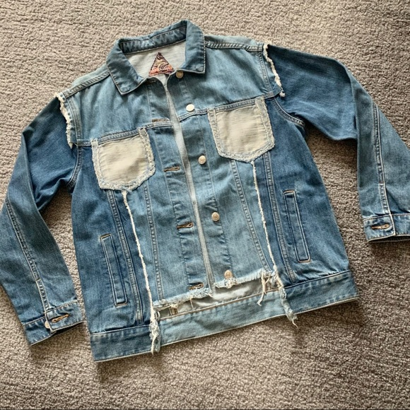 Dolls kill size small patchwork jacket